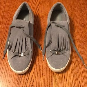 Michael Kors Gray Leather Sneakers- NEW